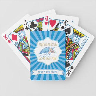 40th Birthday Angel With An Attitude Poker Deck