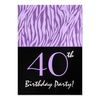 40th Birthday Animal Print Personalized Template Custom Invitation