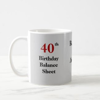 40th Birthday Balance Sheet - triple-sided