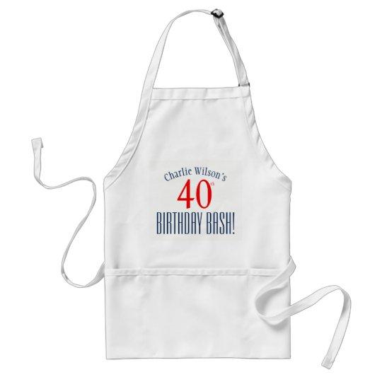 40th Birthday Bash! Birthday Party Apron
