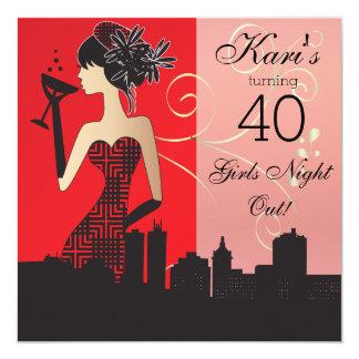 40th Birthday Bash Party Invitation