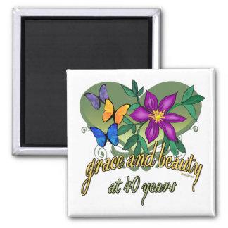 40th Birthday Beauty and Grace Fridge Magnet