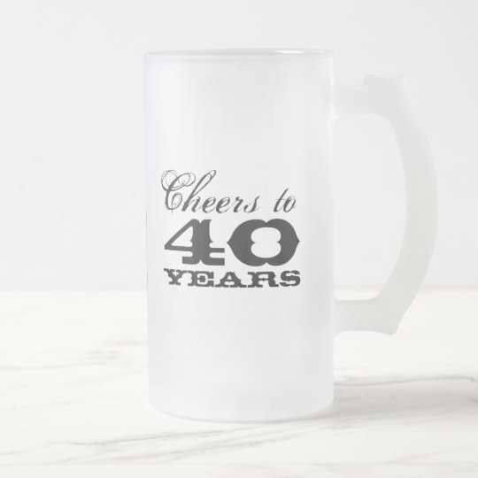 40th Birthday Beer Mug Gift for men with