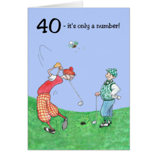 40th Birthday Card for a Golfer