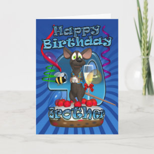 Brother 40th Birthday Cards Zazzle Uk