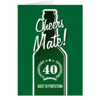 40th Birthday card for men Aged to perfection