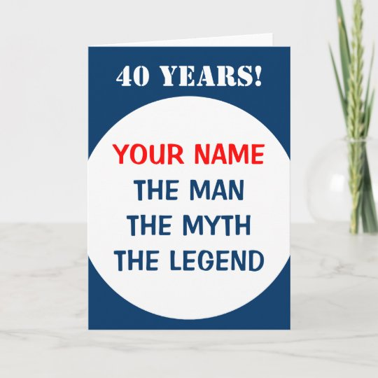 40th Birthday Card For Men
