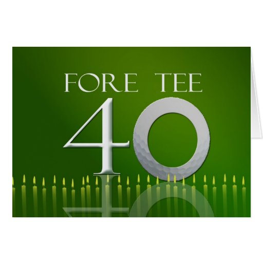 40th birthday card for the golf nut