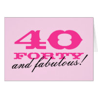 40th Birthday card for women