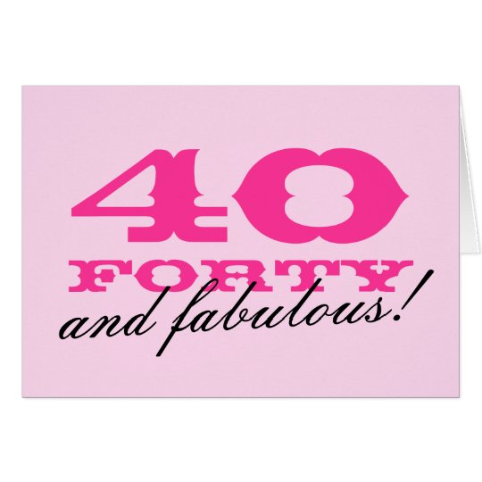 40th Birthday card for women | 40 and