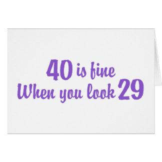 40th Birthday Cards