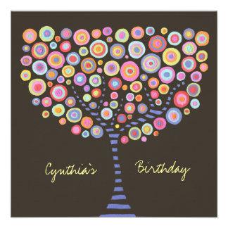 40th Birthday Chocolate Retro Tree Invitation