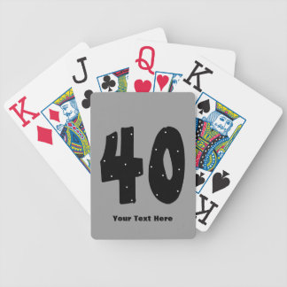 40th Birthday (customizable) Bicycle Playing Cards