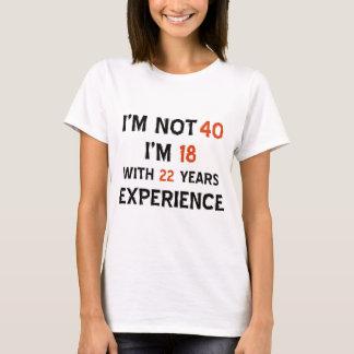 40th birthday designs T-Shirt
