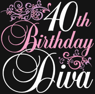 40th Birthday Diva T Shirt