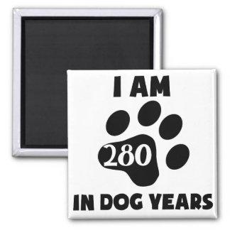 40th Birthday Dog Years Magnet
