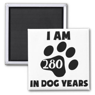 40th Birthday Dog Years Square Magnet