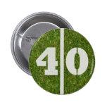 40th Birthday Football Yard Button