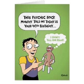 40th Birthday Funny Greeting Card
