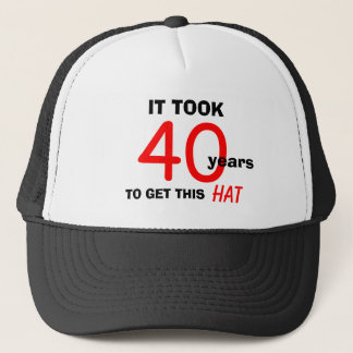 40th Birthday Gag Gifts Hat for Men