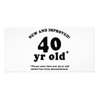 40th Birthday Gag Gifts Personalized Photo Card