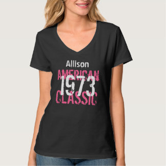 40th Birthday Gift 1973 American Classic  V205 T-Shirt