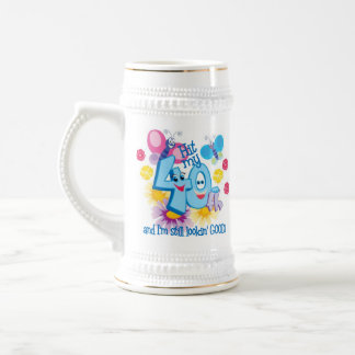 40th Birthday Gift Beer Steins