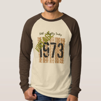40th Birthday Gift Best 1973 Vintage Custom V503E T-Shirt