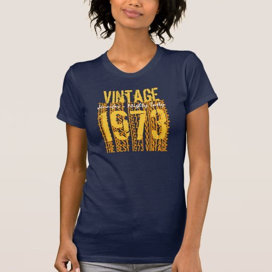 40th Birthday Gift Best 1973 Vintage Navy Gold