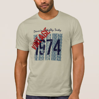 40th Birthday Gift Best 1974 Vintage Custom V503G1 T-Shirt