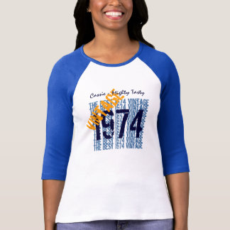 40th Birthday Gift Best 1974 Vintage Diagonal 009 T Shirts