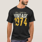 40th Birthday Gift Best 1974 Vintage V503Q T-Shirt