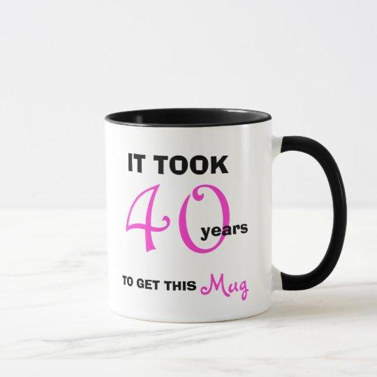 40th Birthday Gift Ideas for Women Mug -
