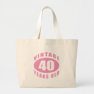 40th Birthday Gifts For Her Large Tote Bag