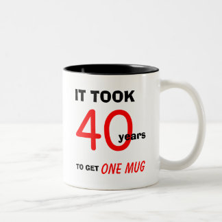 40th Birthday Gifts for Men Mug - Funny