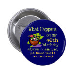 40th Birthday Gifts Pinback Button