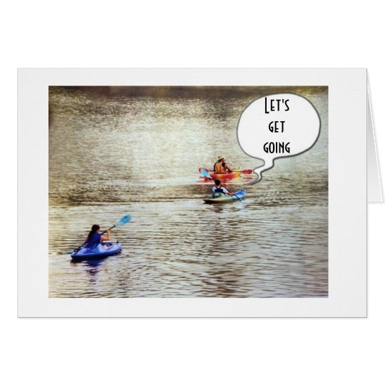 **40th BIRTHDAY** GREETING CARD KAYAK STYLE