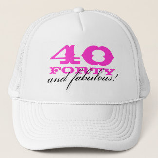 40th Birthday hat | 40 and fabulous!