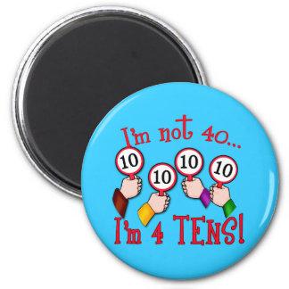 40th Birthday Humour T shirt 6 Cm Round Magnet