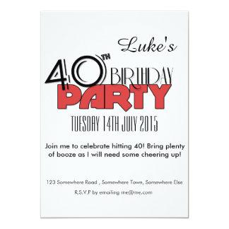 40th Birthday Invitation