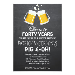 40th birthday invitations announcements zazzle uk 40th birthday invitation beer 40th birthday stopboris Image collections