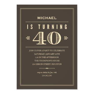 40th Birthday Invitations & Announcements | Zazzle.co.uk