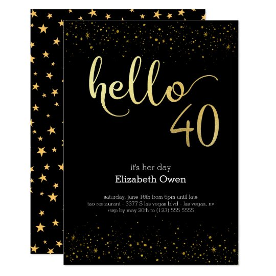 40th birthday invite zazzle 40th birthday invite filmwisefo