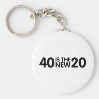 40th Birthday Key Ring