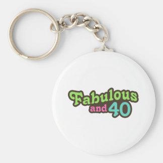 40th Birthday Key Ring