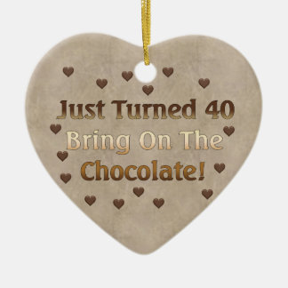 40th Birthday Means Chocolate Christmas Ornament