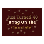 40th Birthday Means Chocolate Invites