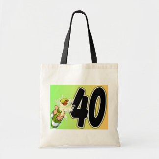 40th birthday merchandise tote bag
