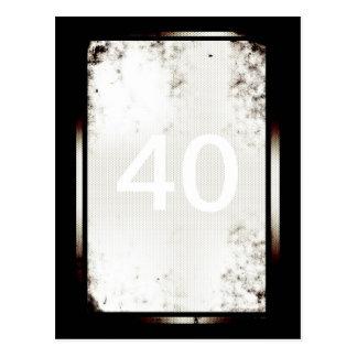 40th Birthday Minimalist Postcard