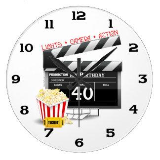 40th Birthday Movie Birthday Party Wall Clocks